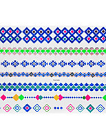 1pc Flash Metallic Waterproof Tattoo Blue Gold Silver Diamond Bracelet Temporary Tattoo Sticker BYH-009