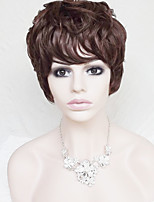 Europe And The United States With  Dark Brown Old Short Curly  Wig 4 Inch