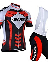KEIYUEM® Summer Cycling Jersey Short Sleeves + BIB Shorts Ropa Ciclismo Cycling Clothing Suits #K108