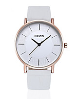 KEZZI® HongKong brand Rose color leather couple watch  K738GB