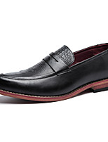 Men's Oxfords Formal Shoes Comfort Leather Summer Fall Outdoor Office & Career Casual Flat Heel Red Brown Black Flat