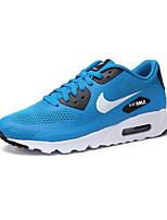 Zapatos Running Cuero / Tul Negro / Azul / Blanco / Gris Hombre