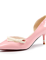 Women's Shoes Leatherette Stiletto Heel Heels Heels Party & Evening / Dress / Casual Pink / White / Beige
