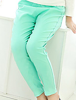 Girl's Casual/Daily Solid Pants,Cotton Spring / Fall Green / Pink / Purple / White