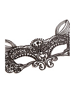 Black / White Lace Mask for Party Animal Shape Fox