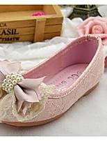 Girls' Shoes Dress / Casual Comfort PU Flats Pink / Gold