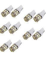 10pcs T10 24SMD 1206 White Car Wedge LED Light Auto License Plate Clearance Lamp Reading Bulb (DC12V)