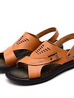 Sapatos Masculinos-Sandálias-Azul / Marrom / Amarelo-Courino-Ar-Livre / Casual