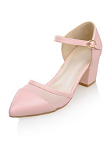 Women's Shoes Tulle / Leatherette Spring / Summer / Fall Heels / D'Orsay & Two-Piece / Pointed Toe Heels Office