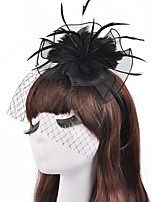 Women's Feather / Tulle / Net Headpiece-Wedding / Special Occasion / Casual / Outdoor Fascinators 1 Piece