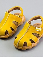 Boy's Summer Sandals / Comfort / Round Toe Cowhide Casual Flat Heel Others Yellow / White