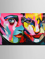 Mini Size E-HOME Oil painting Modern Camouflage Face Pure Hand Draw Frameless Decorative Painting