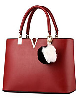 Women-Formal-PU-Shoulder Bag-Pink / Blue / Red / Black