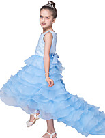 Embroidery 2~8Y Baby Girls' Party Dress Princess Sleeveless Holiday Birthday Wedding Performances Trailing Puffy Dress