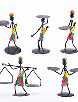 the Iron-men Candlestick of African Style  5pcs/set