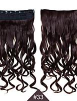 grampo em 1pc sintética mulheres de cabelo 24inch 60 centímetros grande onda longas extensões de cabelo encaracolado # 33 cor do cabelo
