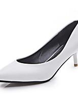 Homme-Décontracté-Noir / Blanc / Gris-Talon Aiguille-Talons-Chaussures à Talons-Polyuréthane