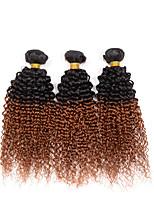 3 Peças Kinky Curly Tramas de cabelo humano Cabelo Indiano Tramas de cabelo humano Kinky Curly