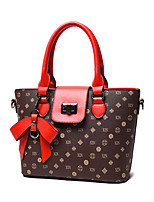 Women-Formal / Casual / Office & Career / Shopping-PU-Tote-Multi-color