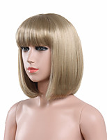 Capless Blonde Color High Quality Natural Straight Synthetic Wig