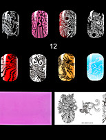 1PC Plastic The Lastest Style Ret Environmental  Lovely Nail Stamping Plate with Fashion Pattern. (KD-SM612-012)