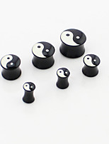 6pcs tattoo puncture black allergy fashion personality ear Puncture tool  ear Anti allergy 4mm-14mm