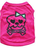 Dog T-Shirt / T-Shirt Single color/ Summer  Floral / Skulls Fashion