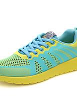 Unisex-Sneakers-Sportivo-Comoda-Piatto-Tulle-Nero / Blu / Verde / Rosso
