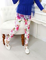 Girl's Casual/Daily Print Pants,Cotton All Seasons Black / Pink / Red / White