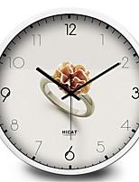 Simple Elegant European Style Living Room Bedroom Wall Clock Ring Mute Machine Electronic Quartz Wall Clock