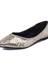 Women's Shoes Canvas Summer Pointed Toe Flats Wedding Flat Heel Shoes Silver / Gold