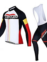KEIYUEM Bike/Cycling Jersey / Tights / Clothing Sets/Suits Unisex Long SleeveBreathable / Insulated / Quick Dry / Dust Proof / Wearable /
