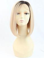 10Inch Brazilian Virgin Hair Two Tone Ombre Blonde Color Short Bob Human Hair Wig 150% Density