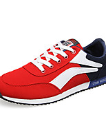 Men's Shoes Tulle Outdoor / Casual Flats Outdoor / Casual Walking Flat Heel Others / Lace-up Black / Blue / Red