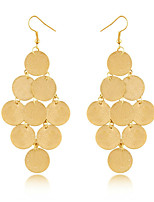 Fashion Bohemia Wafers Punk Style Nightclub Golden Sequins Earrings