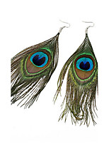Popular Bohemian National Wind Peacock Feather Earrings