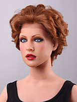 New Arrival Short Layered Curly Lace Front Human Hair Wig