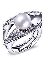 Femme Anneaux,Bijoux Imitation de perle / Zircon / Cuivre / Platiné / Plaqué or A la Mode Mariage / Soirée / Quotidien / Décontracté / N/C