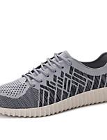 Men's Summer Comfort Tulle Casual Flat Heel Black / Red / Gray Sneaker