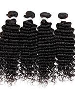 4 pezzi Molto ondulata Tessiture capelli umani Malese Tessiture capelli umani Molto ondulata
