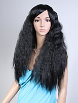Capless Black Color Natural Wave High Quality Synthetic Wig
