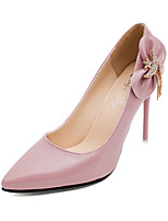 Women's Spring Pointed Toe PU Party & Evening Stiletto Heel Bowknot Black / Brown / Pink / Red / White