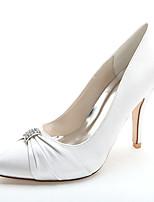 Mujer Zapatos de boda Zapatos formales Primavera Verano Satén Boda Fiesta y Noche Pedrería Tacón Stiletto Rojo Azul Rosa Champaña Marfil