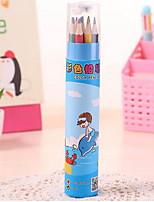 la niña de 12 colores pequeña pluma de la pintura del lápiz