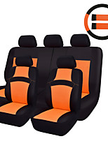 11 Pcs New Rainbow Universal Car Seat Covers Rose Red/Orange/Green Seat Covers Color With Streeing Wheel