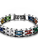 Men's Fashion Colorful Titanium Steel Chain Bracelet Jewelry