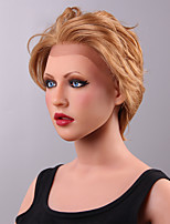 Elegant Graceful Wavy  Lace Front Human Hair Wig