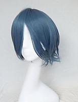 perruque cosplay la couleur de la fumée tourner personnages de dessin animé bleu deviennent déformé perruque 10 pouces