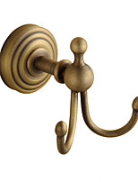 Robe Hook / Brushed / Wall Mounted /10*8*15 /Brass /Antique /10 8 0.325