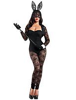 Costumes Plus de costumes Carnaval / Nouvel an Noir Couleur Pleine Fourrure Collant/Combinaison / Châle / Gants / Plus d'accessoires